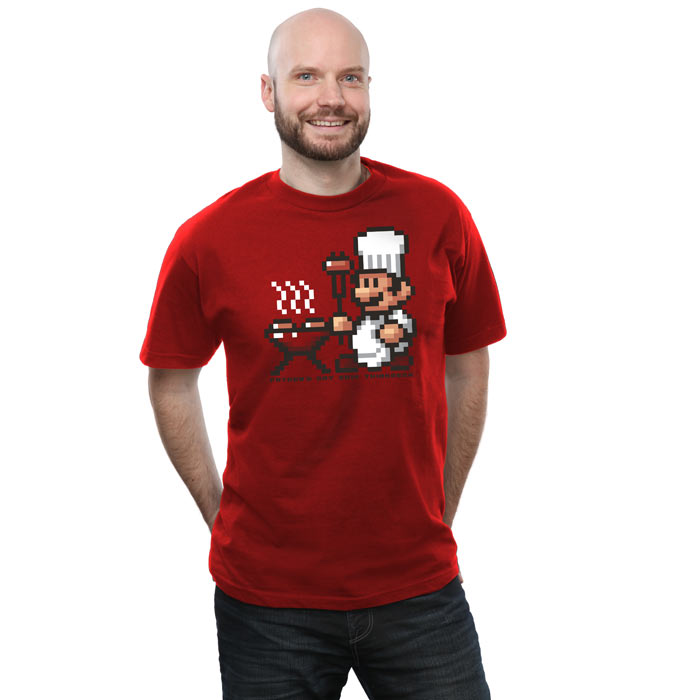 Super Mario 8-Bit BBQ Father's Day Shirt