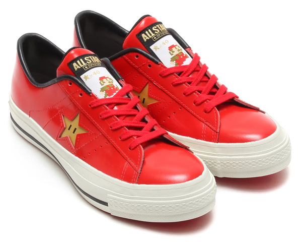 Super Mario Bros Mario Converse Shoes