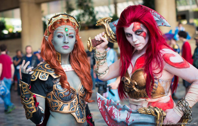 Female Ganon and Kratos Cosplay