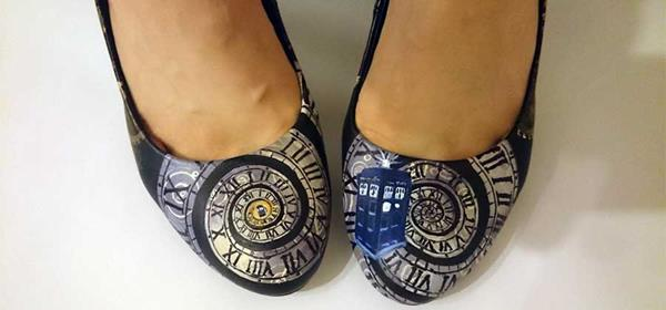 Doctor Who Clock and Gears Heels