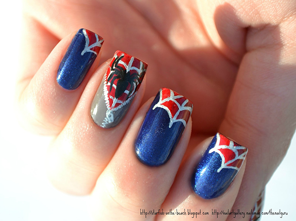 Spider-Man Nail Art