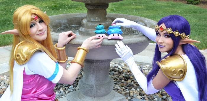 Princess Zelda and Princess Hilda Cosplay