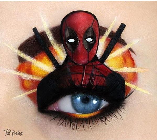 Deadpool Eye Makeup Art